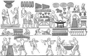 """המאפייה הממלכתית במצרים, כנראה המאה ה-12 לפנה""""ס"""